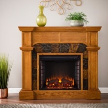 Cartwright Convertible Electric Fireplace - indoor electric fireplaces